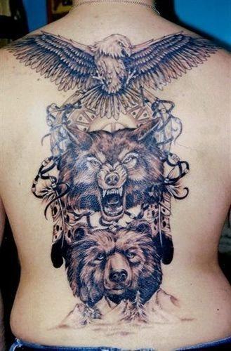 Back tattoo 531