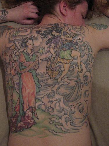 535 back tattoo