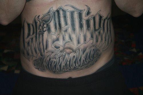Tummy tattoo 36