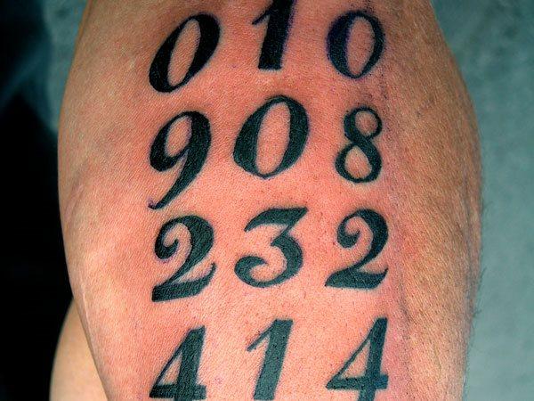 50 Idee Per Tatuaggi Di Numeri E Cifre