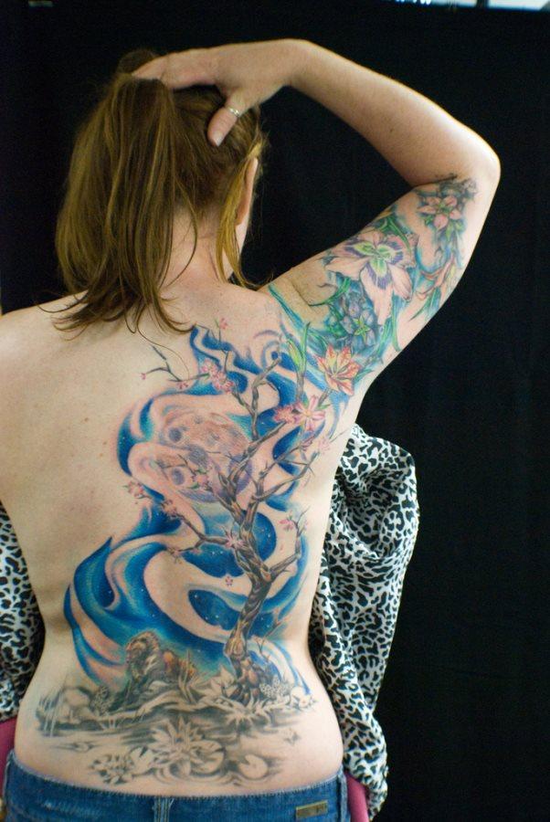 Back tattoo 18