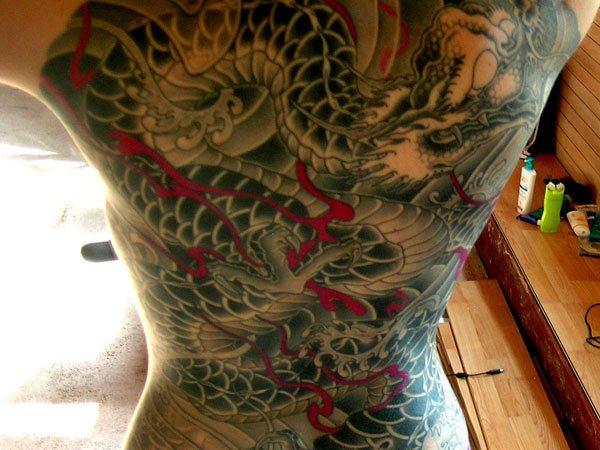 Back tattoo 30