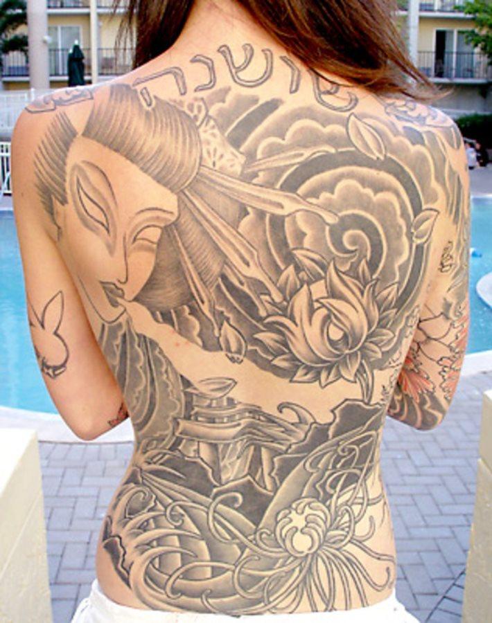 Back tattoo 40th