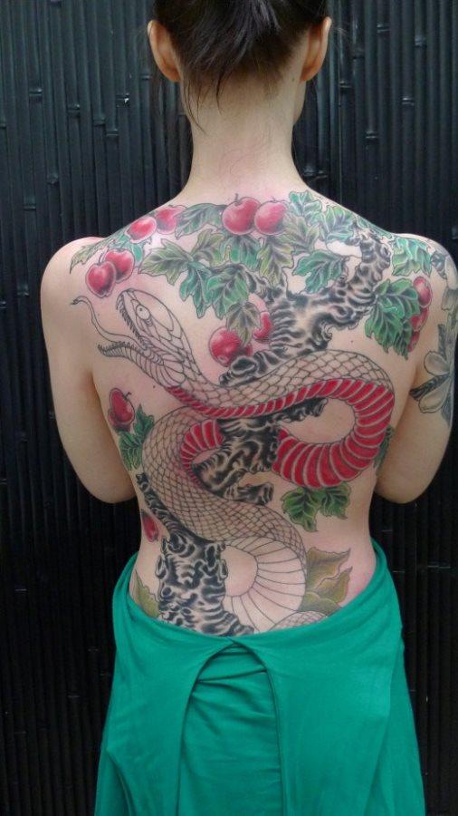 Back tattoo 42