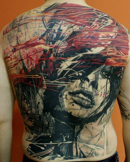 Back tattoo 44