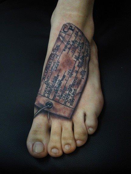 189 meravigliosi tatuaggi sul piede for Tatuaggi sul piede uomo